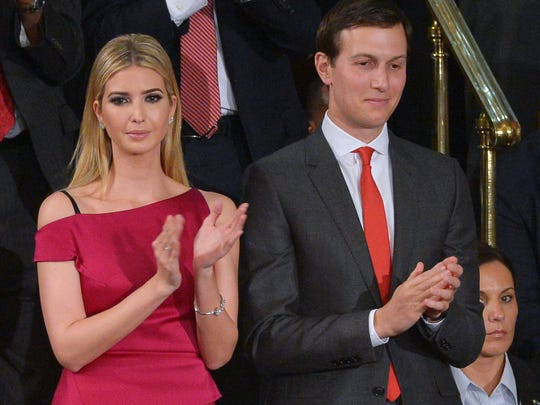 First daughter Ivanka Trump and husband Jared Kushner