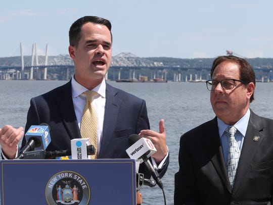 State Sen. David Carlucci and Assemblyman Tom Abinanti,