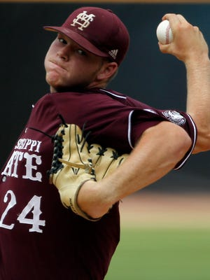 Mississippi State's Brandon Woodruff was drafted by the Brewers in the 11th round of the 2014 MLB draft. He was named the Brewers' minor-league pitcher of the year last season.