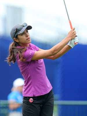 Paula Reto hits from the 1st tee during the KPMG Women's PGA Championship at Westchester Country Club - West on June 11, 2015.