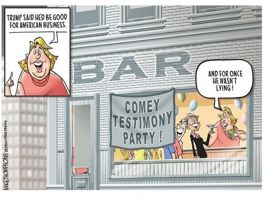 Comey's testimony