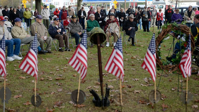 Over 100 people turned out for the annual Veterans Day Program at Fisher Veterans Park in the City of Lebanon on, November 11, 2014. The  program was in remembrance of the veterans of the War of 1812.