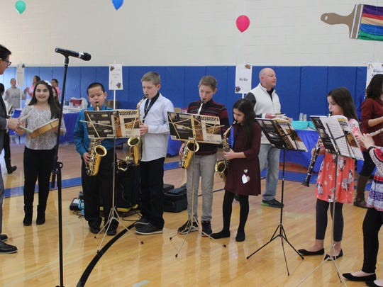 5th grade band students from Warren E. Sooy Jr. Elementary