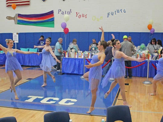 Students from Dance Magic performed several routines