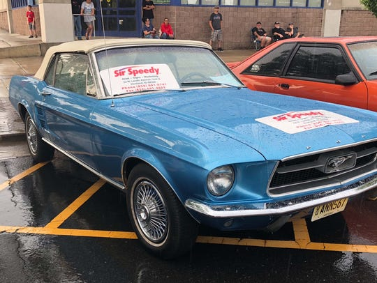 A 1967 Ford Mustang was just one of the classic  cars
