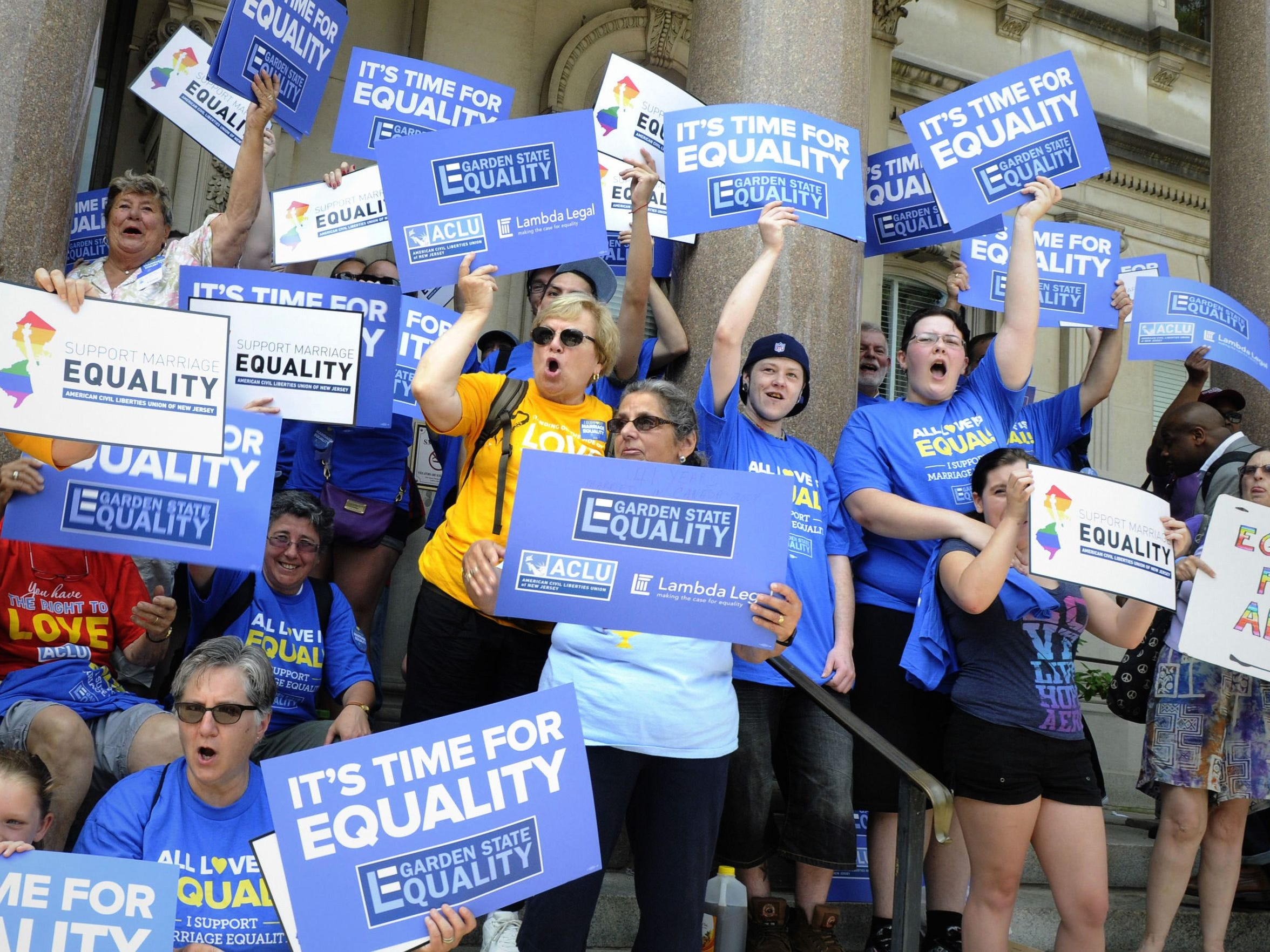Garden State Equality and other gay-rights groups rally