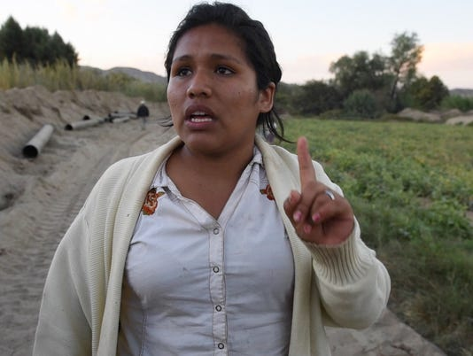 Joselyn Guzmán has been involved in a dispute over water in Ocucaje, Peru