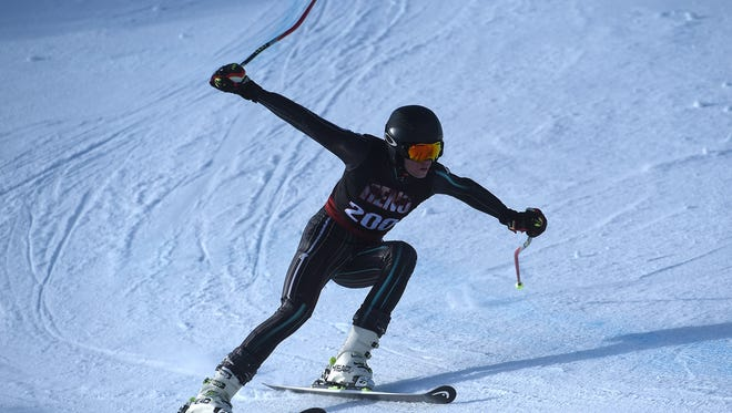 NIAA ski racing championships at Mt. Rose Ski Tahoe on Feb. 14, 2018.