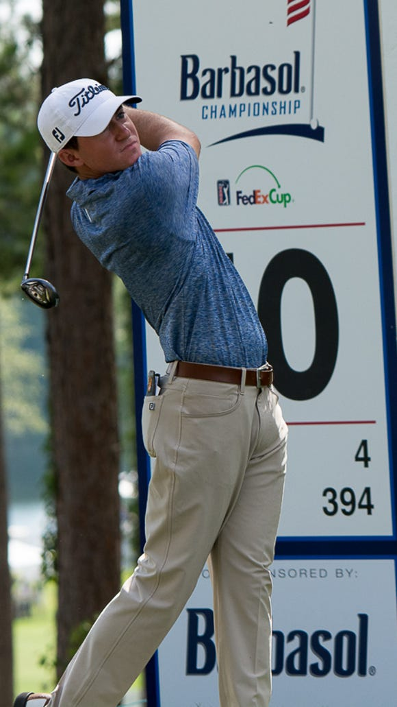 Michael Johnson on the 10th tee during the third round
