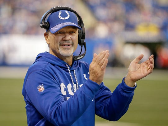 Former Indianapolis Colts coach Chuck Pagano is keeping his home in Zionsville, for now.