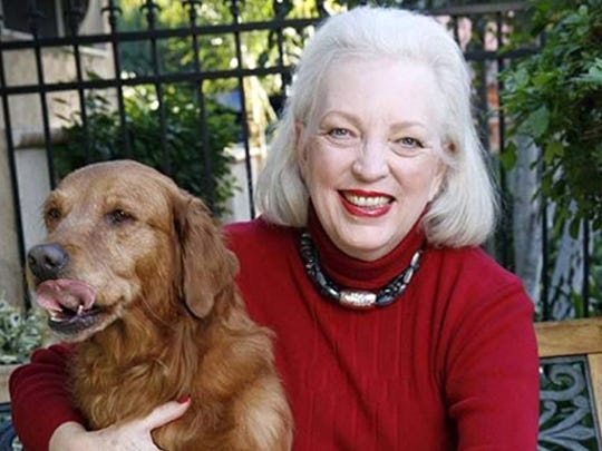 Author J.A. Jance with her dogs Daphne and Aggie.