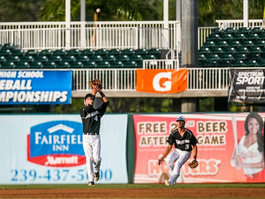 Gulf Coast junior Collin Camarigg makes a catch in the Class 7A state semifinal game last year. Camarigg will be a key player for the Sharks this season.