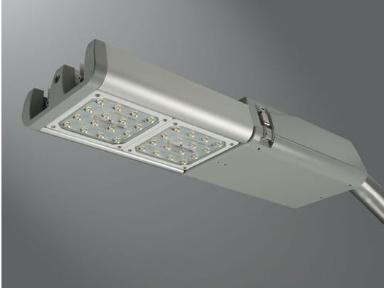 A rendering of an energy-efficient streetlight that