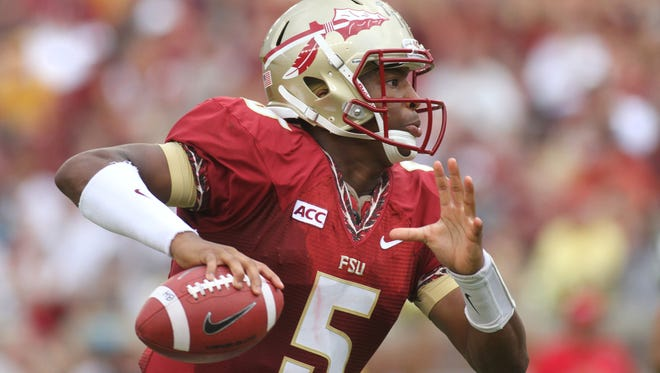 Jameis Winston (5) and the No. 10 Florida State Seminoles move to 2-0 after defeating the Nevada Wolf Pack 62-7 in FSU's home opener on Saturday September 14, 2013.