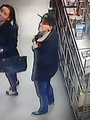 Shoplifters taken from security camera at Famous Faces and Funnies in West Melbourne.