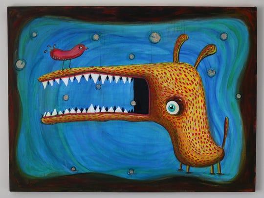 "One of a series of ""monsters"" created by Renee Schuls-Jacobson, symbolizing her struggles."