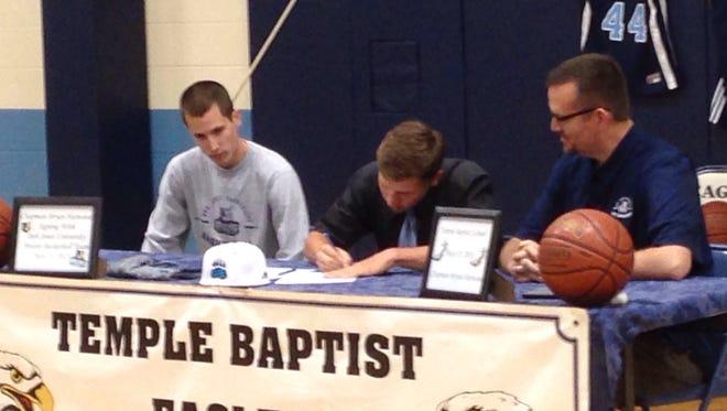 Temple Baptist junior Chapman Harwood has signed to play college basketball for Bob Jones (S.C.).
