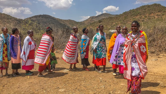 These Maasai women, from the Great Rift Valley in Kenya, have vowed not to allow female genital mutilation or forced early marriage in their village.