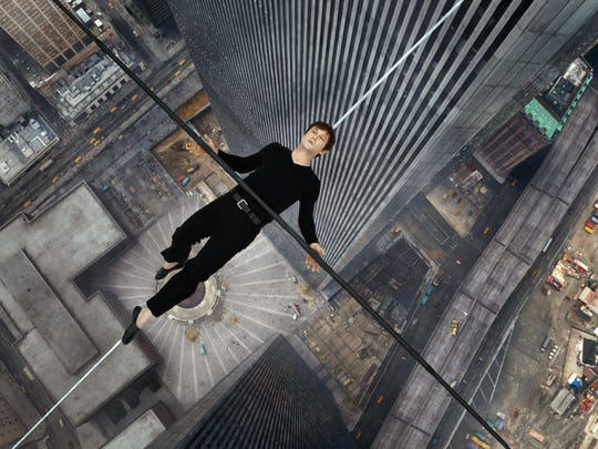 Joseph Gordon-Levitt portrays Philippe Petite, a high-wire artist who walked between the Twin Towers in 1974.