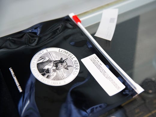 A child resistant package is seen on the counter at