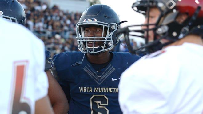 All-purpose athlete Kyle Williams of Vista Murrieta High School in Murrieta, Calif.