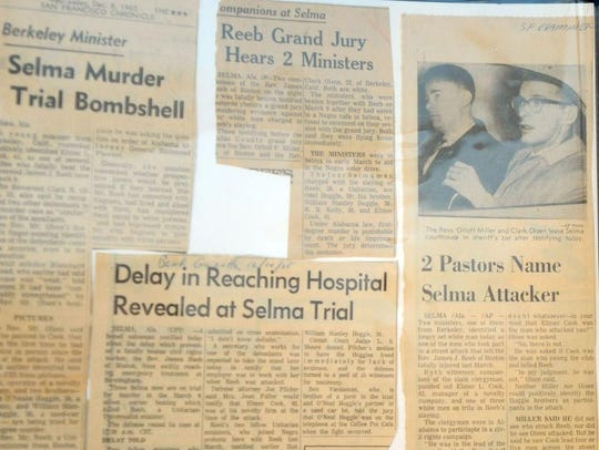 Here some of the news clippings the attack on the Rev. James Reeb generated.