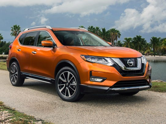 This photo provided by Nissan shows a 2018 Nissan Rogue,