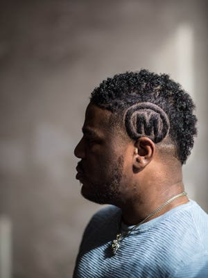 """Billy Dorsey sports his signature """"M"""" emblem, standing for """"Messiah."""" Dorsey will release a new album, """"Masterpiece"""" this summer."""