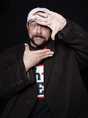 "Filmmaker Kevin Smith poses for a portrait to promote the film ""Yoga Hosers"" at the Sundance Film Festival on Jan. 24 in Park City, Utah."