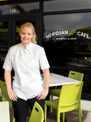 Chef Raena Hobson is in charge in the kitchen at Meridian Cafe in Meridian Marketplace at Pine Ridge and Livingston roads in North Naples.