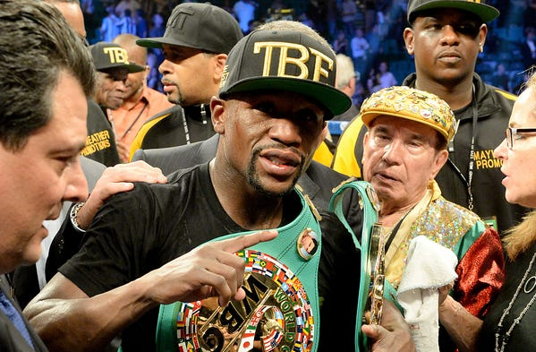 Floyd Mayweather got the better of Marcos Maidana again in their rematch at the MGM Grand Garden Arena in Las Vegas. Mayweather won a unanimous decision to maintain his unbeaten career record.