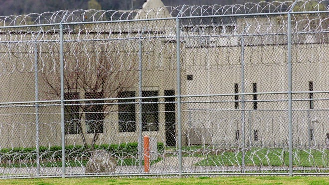 """Part of the Riverbend Maximum Security Institution on March 20, 2000 as death row inmate Robert Glen Coe move to the prison's never-used """"death watch"""" area."""