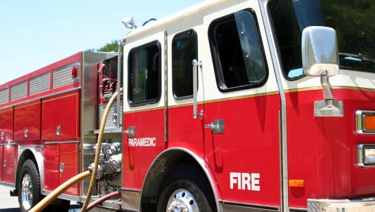 Firefighers were called to a blaze a Victory Lane in Merrill
