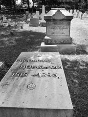 Frederick Douglass' grave at Mt. Hope Cemetery.