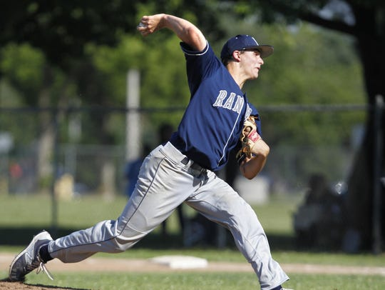 Redwood's Jake Bower pitches a solid game against Golden