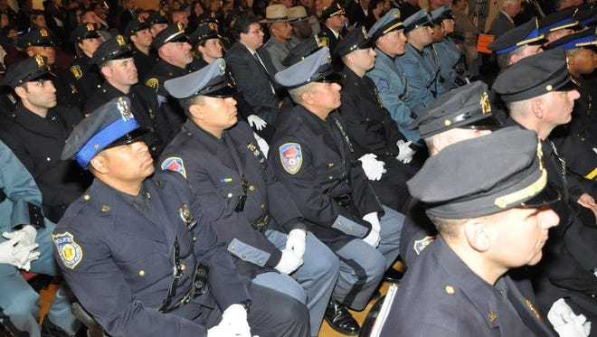 About 300 members of Westchester's law enforcement community attended Thursday's ceremony to start National Police Week in the county.