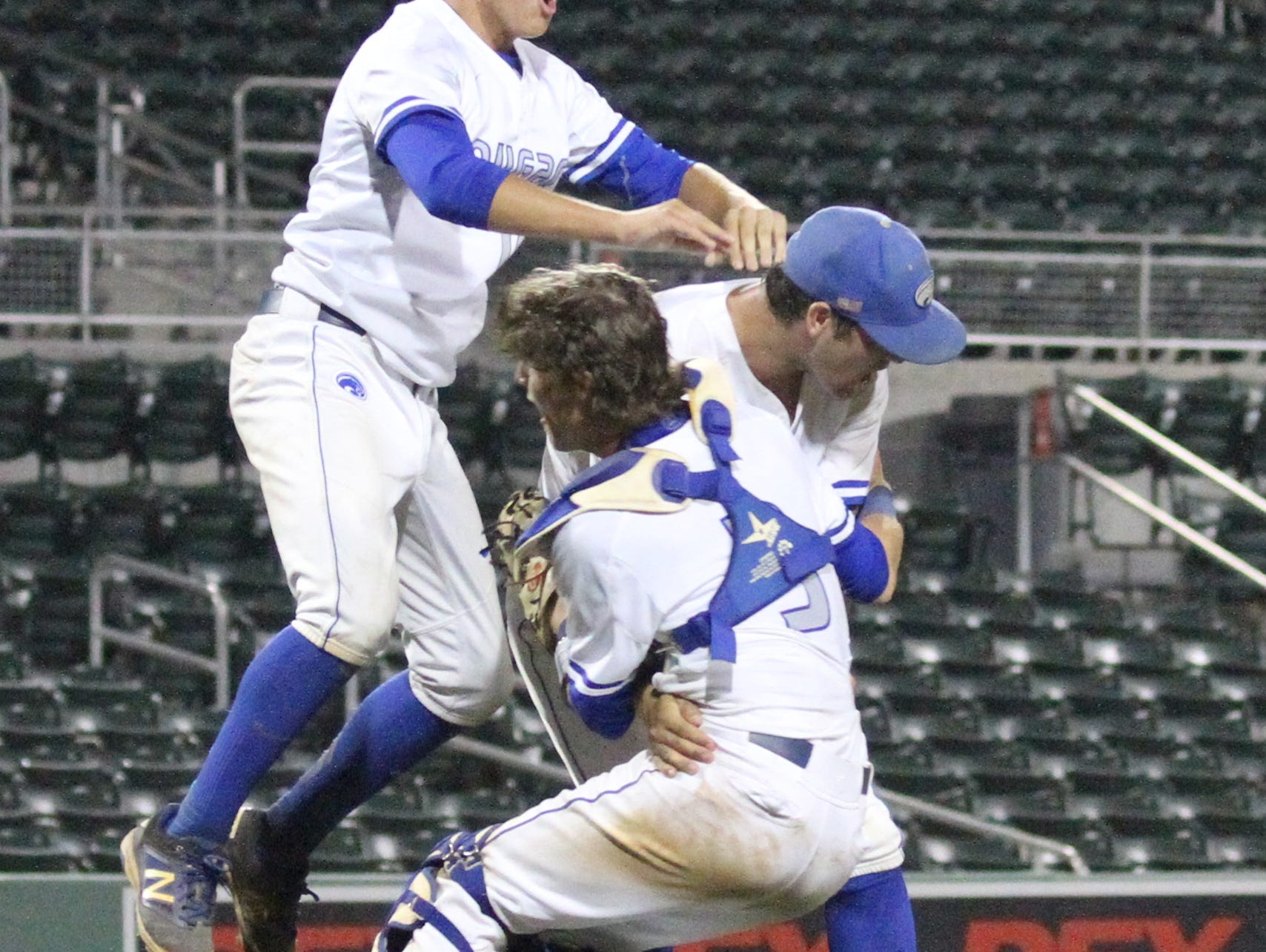 The Canterbury baseball team claimed its first state title in school history with a 6-0 win over Lakeland Santa Fe Catholic on Saturday in the Class 3A at JetBlue Park.