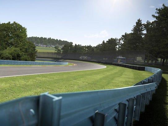 A screen shot from Watkins Glen International in Forza