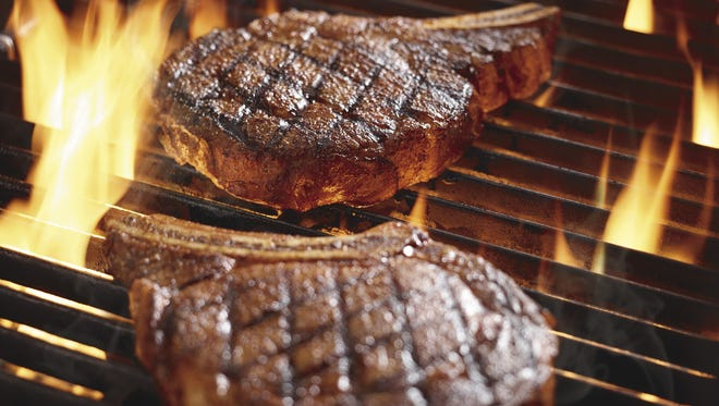The Outlaw rib eye steak is one of Longhorn's signature dishes.