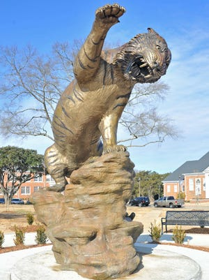 """Eddie"" stands on the campus of Grambling State University."