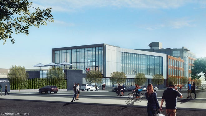 Artists rendering of Suffolk's 38,000-square-foot addition and complete interior renovation of its headquarters in Boston.