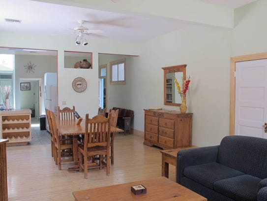 Guests at Canyon Rose Suites can relax in big airy