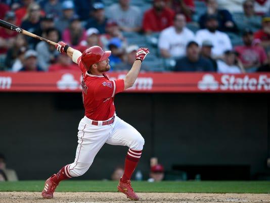 MLB: Cleveland Indians at Los Angeles Angels