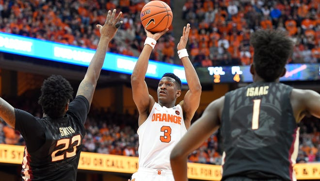 Syracuse's Andrew White  shoots the ball against Florida State.