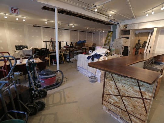 The bar has been delivered and work continues on Jazz Forum, at One Dixon Lane, a new jazz club in Tarrytown, Jan. 10, 2017, under the direction of Mark Morganelli, the Executive Director of Jazz Forum Arts.