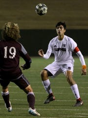 Wichita Falls High School's Alfredo Pacheco watches