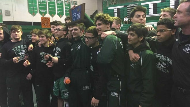 South Plainfield celebrates Friday night's Central Group III championship