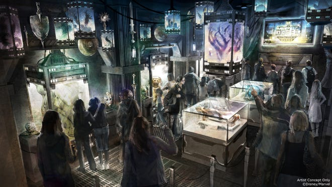 Guardians of the Galaxy Ð Mission: BREAKOUT! will take Disney California Adventure park guests through the fortress-like museum of the mysterious Collector, who is keeping his newest acquisitions, the Guardians of the Galaxy, as prisoners.