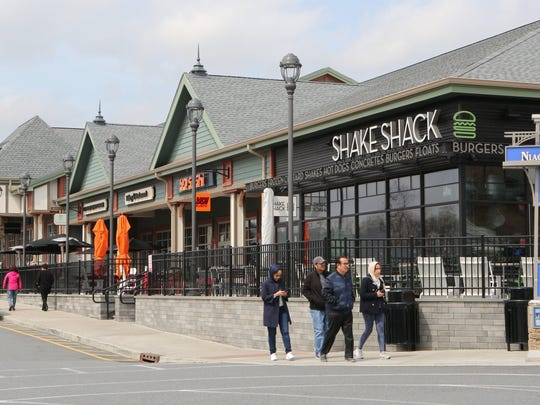 Shake Shack is one of the dining destinations at Woodbury Common in Central Valley, April 19, 2017.
