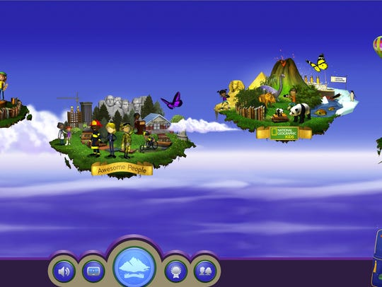 Kids head to the web to explore seven themed floating